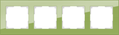 Рамка на 4 поста (фисташковый) WL01-Frame-04 Werkel