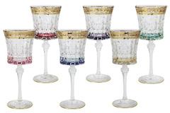 Набор: 6 бокалов для вина Цветная Флоренция 46053