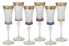 Набор: 6 бокалов для шампанского Цветная Флоренция 46054