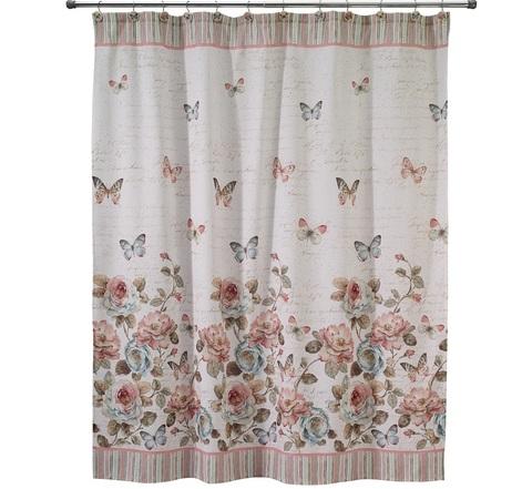 Шторка для ванной Avanti Butterfly Garden 13882H