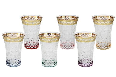 Набор: 6 стаканов для воды Цветная Флоренция 46055