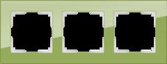 Рамка на 3 поста (фисташковый) WL01-Frame-03 Werkel