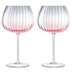 Набор из 2 круглых бокалов Dusk 650 мл розовый-серый LSA International G1443-23-152