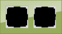 Рамка на 2 поста (фисташковый) WL01-Frame-02 Werkel