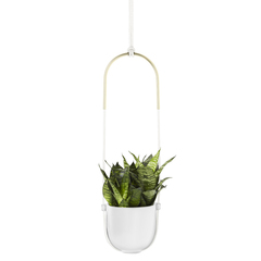 Горшок для растений подвесной белый Umbra 1009571-660