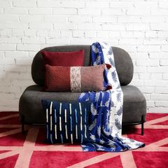 Подушка декоративная с бахромой и эффектом плиссе из коллекции Ethnic, 45х45 см Tkano TK19-CU0017