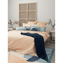 Комплект постельного белья двуспальный из сатина бежево-розового цвета из коллекции Essential Tkano TK20-DC0048