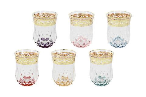 Набор: 6 стопок для водки Цветная Флоренция 55815