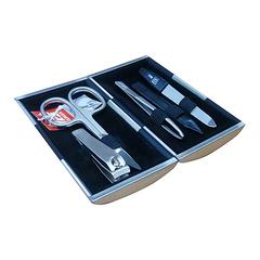 Маникюрный набор Yes, 5 предметов, цвет серебристый/черный, металлический футляр 9312GAR