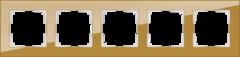 Рамка на 5 постов (бронзовый) WL01-Frame-05 Werkel