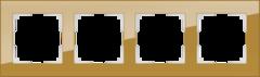 Рамка на 4 поста (бронзовый) WL01-Frame-04 Werkel