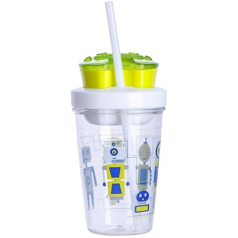 Детский стакан для воды с трубочкой Contigo Snack Tumbler (0.35 литра), зеленый