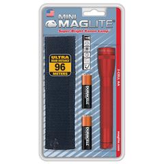 Фонарь MAGLITE Mini, 2AA, красный, 14,6 см, в блистере, с чехлом M2A03HE