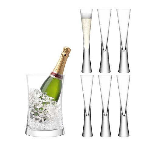 Набор для сервировки шампанского Moya прозрачный LSA G1372-00-985