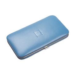 Маникюрный набор Dewal, 5 предметов, цвет голубой, кожаный футляр 505SW