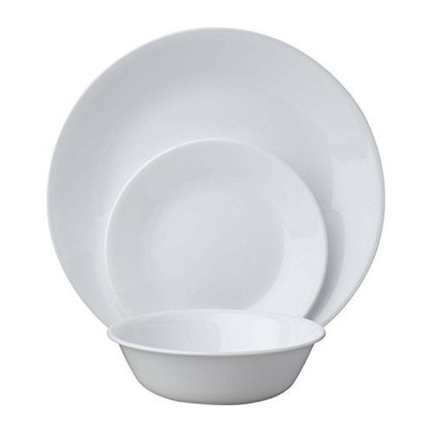 Набор посуды 18 предметов Corelle Winter Frost White 1088609