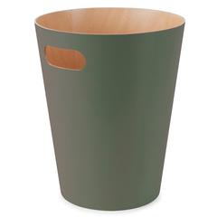 Корзина для мусора Woodrow зелёная Umbra 082780-1095