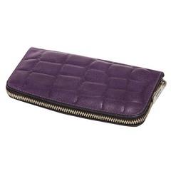 Маникюрный набор Erbe, 6 предметов, цвет фиолетовый, кожаный футляр 9716ER