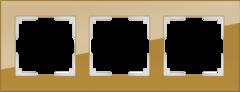 Рамка на 3 поста (бронзовый) WL01-Frame-03 Werkel