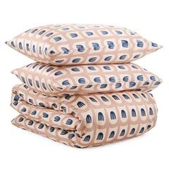Комплект постельного белья двуспальный из сатина бежево-розового цвета с принтом Blossom time из коллекции Cuts&Pieces Tkano TK20-DC0051