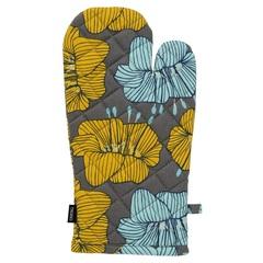 Прихватка-варежка из хлопка серого цвета с принтом Цветы из коллекции Prairie, 33х17,5 см Tkano TK20-OM0007
