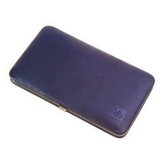 Маникюрный набор Dewal, 7 предметов, цвет фиолетовый, кожаный футляр 504VL
