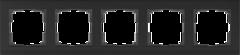 Рамка на 5 постов (черный) WL04-Frame-05-black Werkel