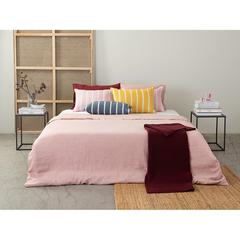 Чехол на подушку декоративный в полоску цвета пыльной розы из коллекции Essential, 40х60 см Tkano TK21-CC0004