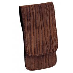 Маникюрный набор Erbe, 3 предмета, цвет коричневый, кожаный футляр 9100ER