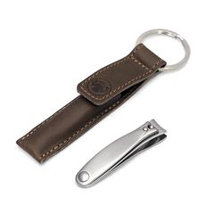 Маникюрный набор-брелок Dovo,1 предмет, цвет коричневый, кожаный футляр 4054056
