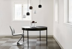 Лампа подвесная Ball, черная матовая, черный шнур Frandsen 1115_0500105