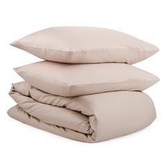 Комплект постельного белья двуспальный из сатина бежевого цвета из коллекции Essential Tkano TK20-DC0049
