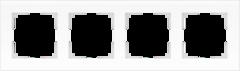 Рамка на 4 поста (белый матовый) WL01-Frame-04 Werkel