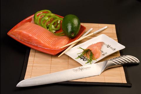 Нож кухонный стальной для нарезки, слайсер (240мм) Tojiro Supreme Series DP FD-961