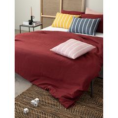 Чехол на подушку декоративный в полоску цвета пыльной розы из коллекции Essential, 45х45 см Tkano TK21-CC0001