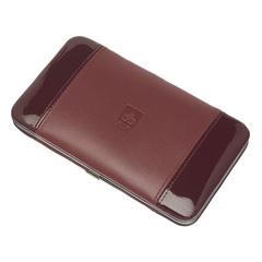 Маникюрный набор Dewal, 7 предметов, цвет красный, кожаный футляр 504DR
