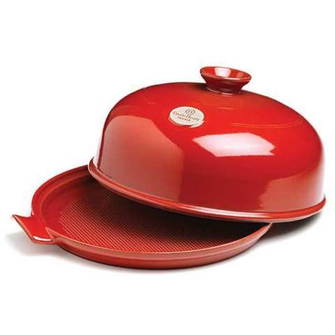 Набор для выпечки хлеба (форма керамическая + лопатка пекарская) Emile Henry (цвет: гранат) 349108