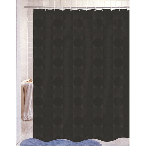 Шторка для ванной Carnation Home Fashions Jacquard Black Circle FSCJAC/16