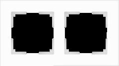 Рамка на 2 поста (белый матовый) WL01-Frame-02 Werkel