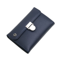 Маникюрный набор GD, 6 предметов, цвет синий, кожаный футляр 1553BlOM