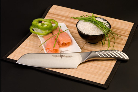 Нож кухонный стальной Сантоку (170мм) Tojiro Supreme Series DP FD-959