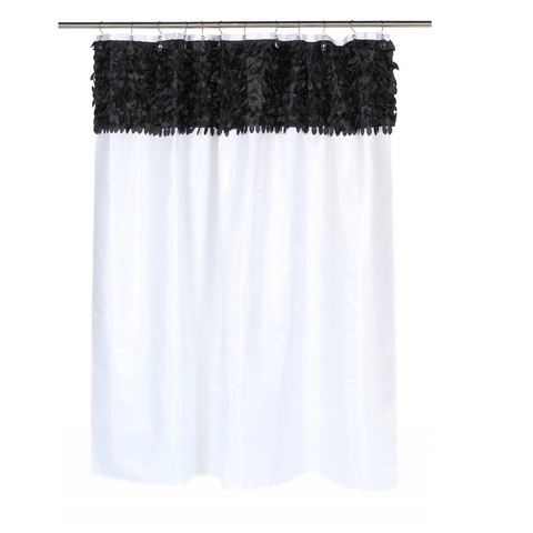 Шторка для ванной Carnation Home Fashions Jasmine White/Black FSCL-JAS/75