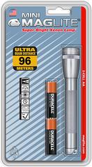 Фонарь MAGLITE Mini, 2AA, серый, 14,6 см, в блистере M2A096E