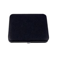 Маникюрный набор Dovo, 4 предмета, цвет черный, кожаный футляр 515016