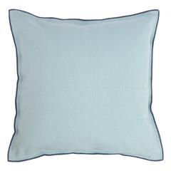 Чехол на подушку из фактурного хлопка голубого цвета с контрастным кантом из коллекции Essential, 45х45 см Tkano TK20-CC0007
