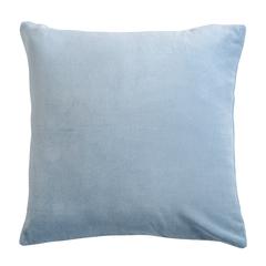 Подушка декоративная из хлопкового бархата светло-синего цвета из коллекции Essential, 45х45 см Tkano TK19-CU0006
