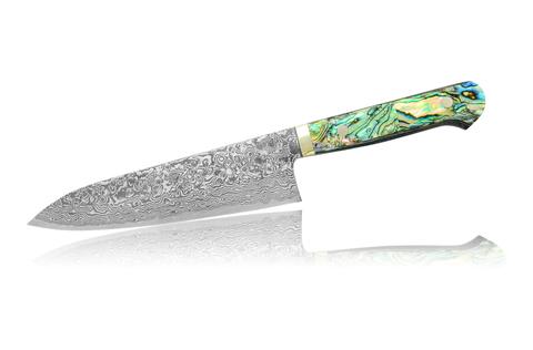 Нож кухонный стальной 180 мм Hiroo Itou Damaskus HI-1104