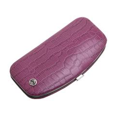 Маникюрный набор GD, 5 предметов, цвет розовый, кожаный футляр 1557PKN
