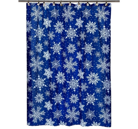 Шторка для ванной Carnation Home Fashions Snow Flake FSC-SNO