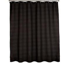 Шторка для ванной Carnation Home Fashions Waffle Weave Black FCOT1/XL/16